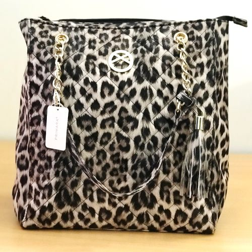 Primark Leopard Print Quilted Shopper Tote Shoulder Bag
