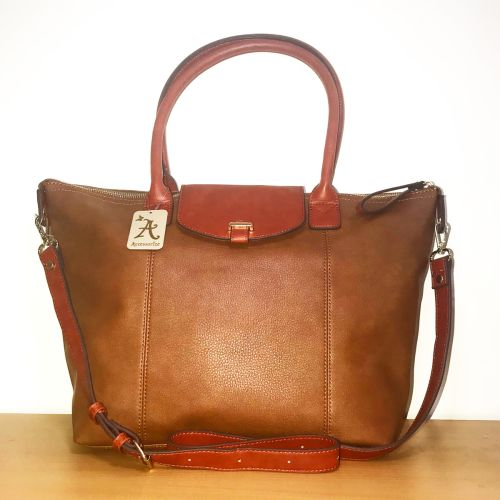 Accessorize brown Tote Bag with Shoulder Strap