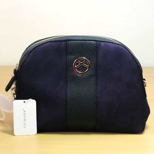 Primark  Purple and Black Single Chain Body Bag