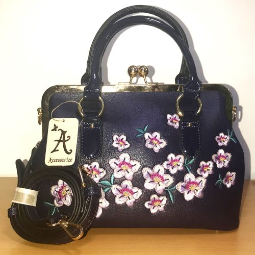 Accessorize Embroidered Frame Body Bag with Shoulder Strap
