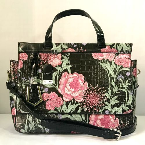 Next Flower Pattern Croc Effect Handware Bag