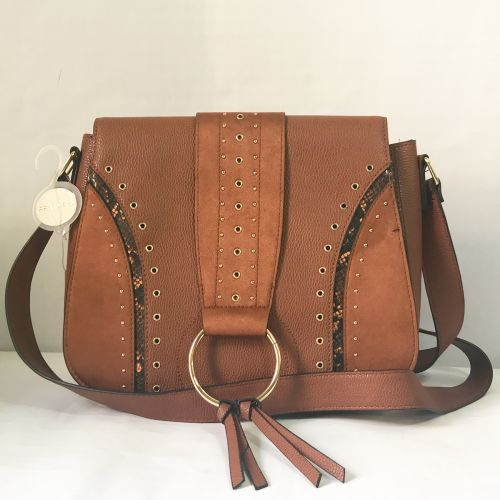 Primark Tan and Golden Dots Cross body Bag with Shoulder strap