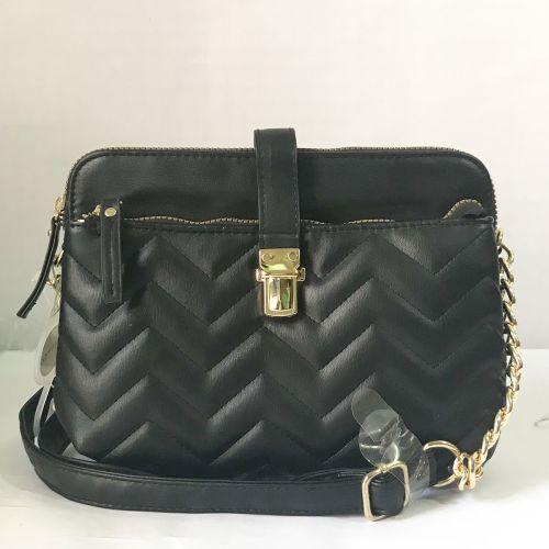 Primark Black Quilted Cross body Bag