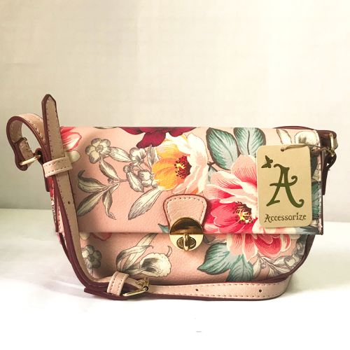 Accessorize Holiday Floral Cross Body Mini Bag with Adjustable strap.