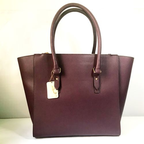 Accessorize Big Maroon Tote Bag with Adjustable strap.