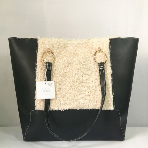 New Look Large Shearling Tote Shoulder Bag