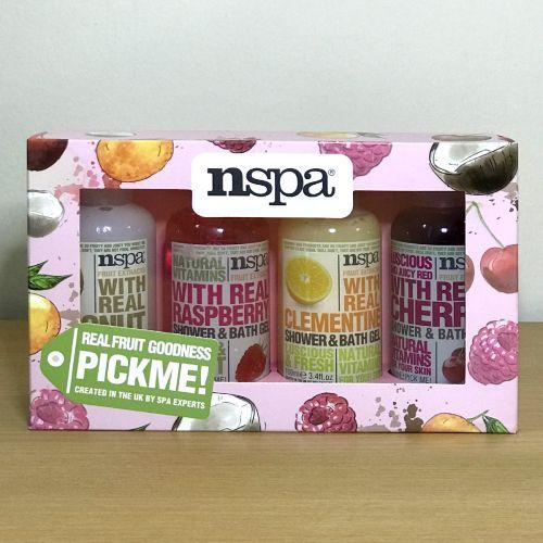 Nspa Real Fruit Goodsness Pickme Shower & Bath Gel Gift Set