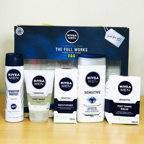 Nivea MenThe Full Works Sensitive Care Gift Set