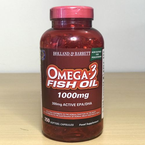 Holland & Barrett  Omega-3 fish oil 1000mg 250 capsule