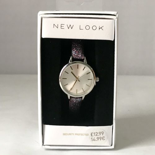 New Look Purple Glitter Strap Watch