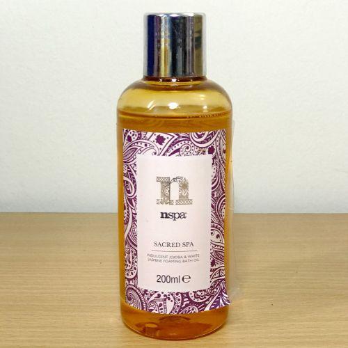 Nspa Sacred Spa Jojoba & White Jasmine Foaming Bath Oil