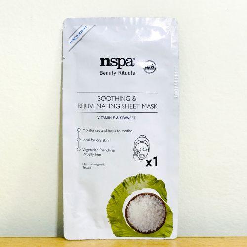Nspa Beauty Rituals Soothing & Rejuvenating Sheet mask