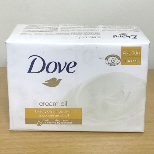 Dove Cream Oil Beauty Cream Bar with Moroccan Argan Oil 4x100g