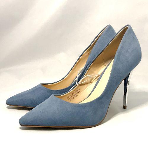 Primark Light Blue Metal Heel Court Shoe