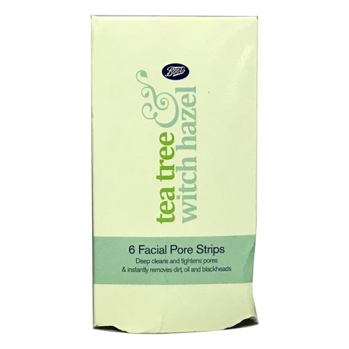 Boots Tea Tree and Witch Hazel Nose Pore Strips 6 Strips
