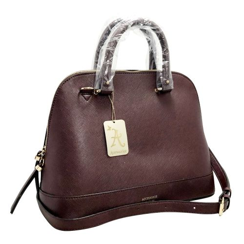 Accessorize Maroon Handle Bag With Adjustable strap