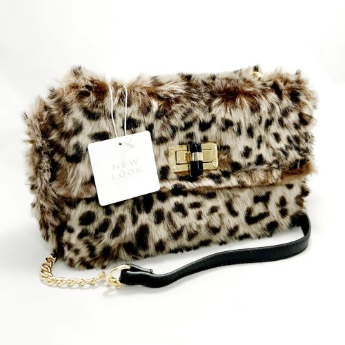 New Look Faux Fur Cross Body Bag
