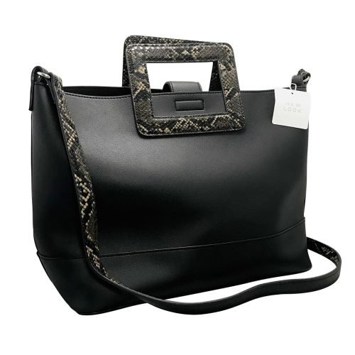 New Look Sandy Square Handle Tote Hand Bag