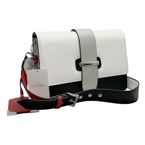 Catwalk Black & White Body Strap Bag