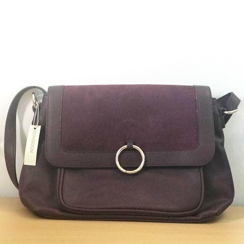 Moonson Purple Velvet Side Bag with Shoulder Strap