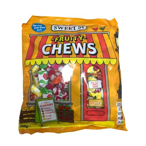 Sweet ST Fruity Chews Real Fruit Candy 500g