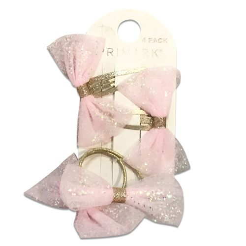 Primark Baby Girl 2 pieces Fancy Hair Clips & 1 hair Grippers