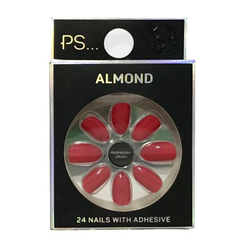 Primark Almond Raspberry Crush 24 Nails With Adhesive