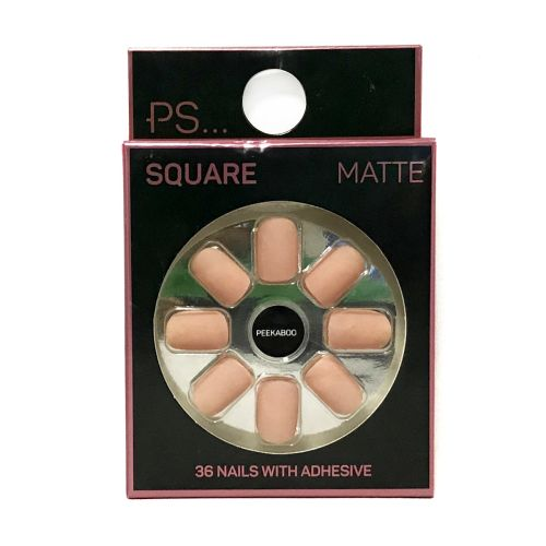 Primark Square Matte Peekaboo 36 Nails With Adhesive