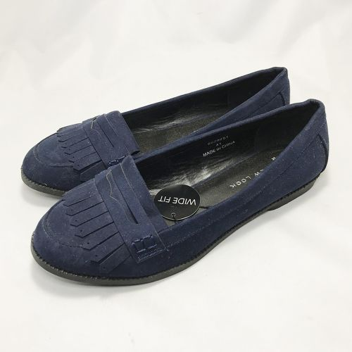 New Look Blue PU Leather Loafer Shoe