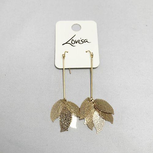 Lovisa Gold Faux Leaf Cluster Drop Earring