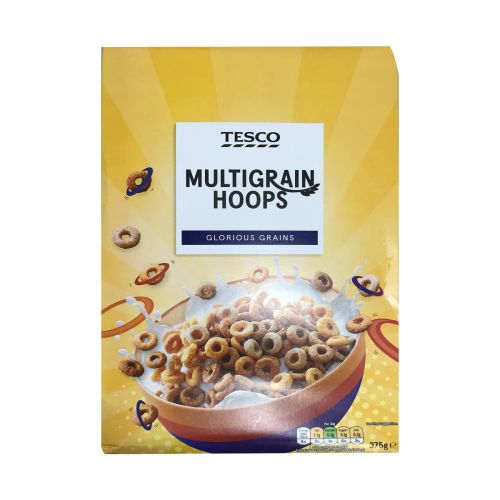 Tesco Multigrain Hoops Cereal