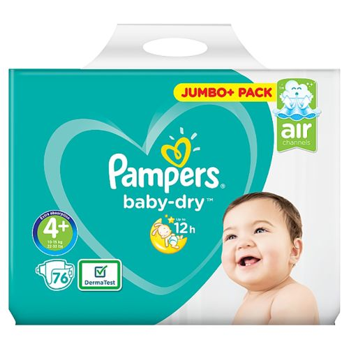 PAMPERS JUMBO PACK BABY DRY SIZE 4+