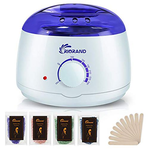 RioRand Wax Warmer Hair Removal Kit with Hard Wax Beans and Waxing Spatula