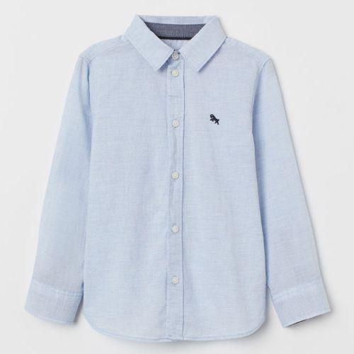 H&M Light Navy Blue Cotton Shirt