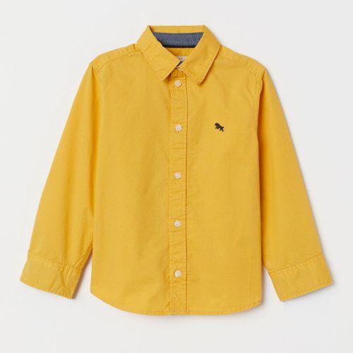 H&M Yellow Cotton Shirt