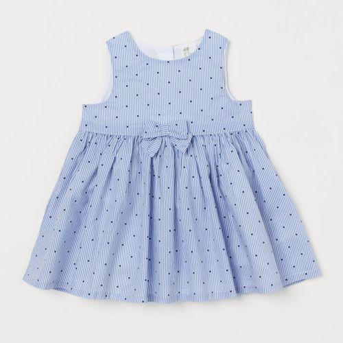 H&M Navy Blue Bow- Detail Dress