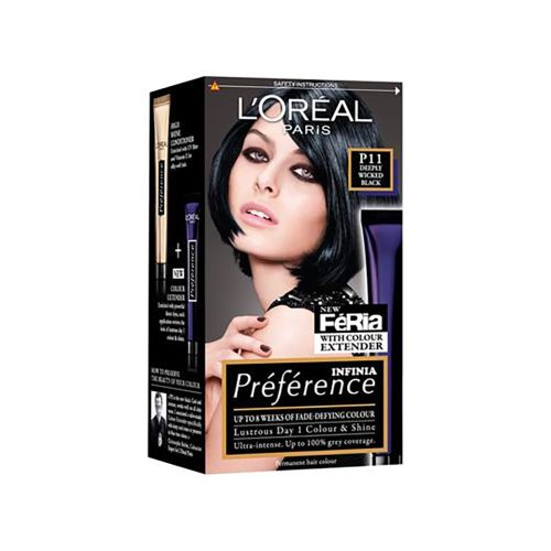 Loreal Paris Preference P11 Deeply Wicked Black Permanent Hair Dye