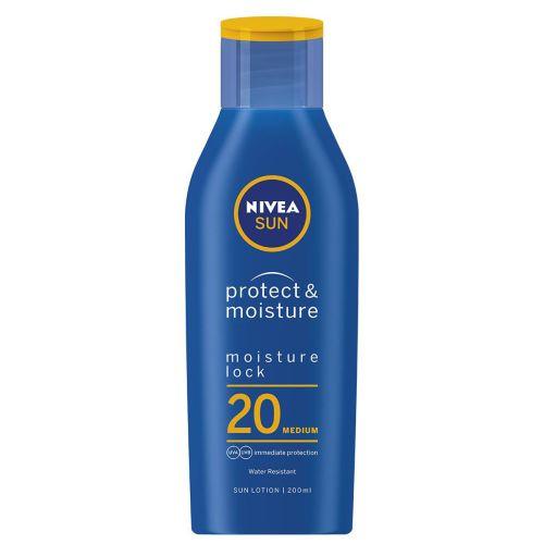 Nivea Sun Protect & Moisture Lock 20 Medium 200ml