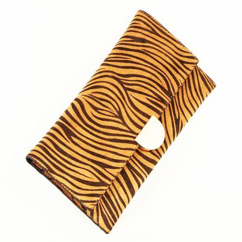 New Look Black Tiger Print Clutch Bag