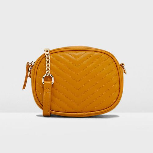 New Look Chevron Quilted Camera Crossbody