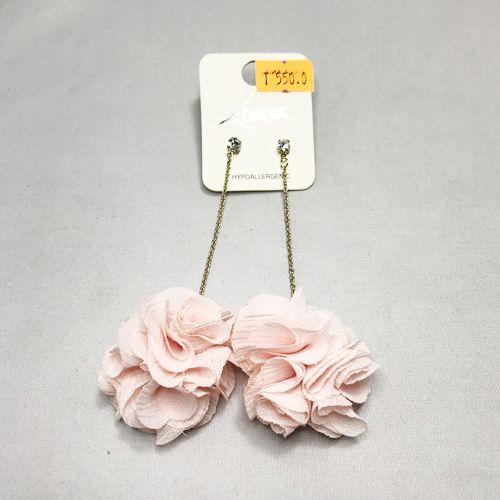 Lovisa Pink Fabric Flower Earring