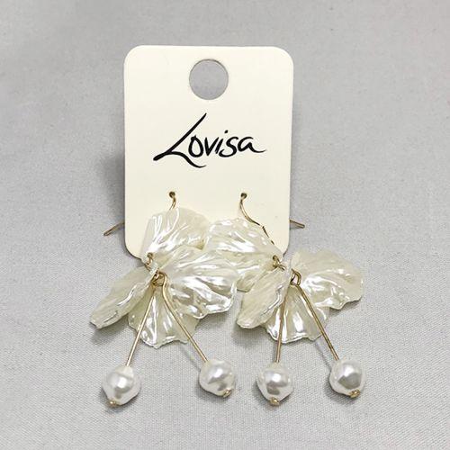 Lovisa Gold White Delicate Cloud Drop Earring
