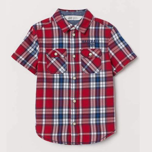 H&M Red and White Check Shirt