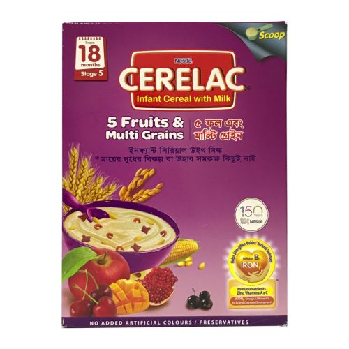 Nestle CERELAC 5 Fruits & Multi Grains