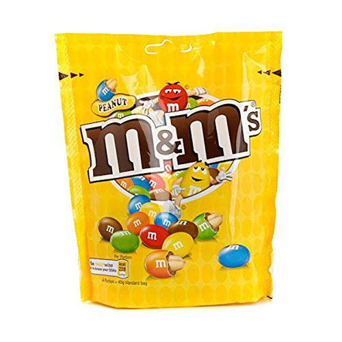 m&m's chocolate covered with peanut in sugar shell