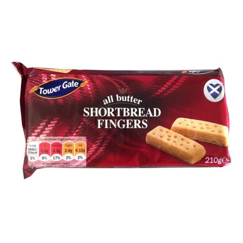 Tower Gate All Butter Shortbread Fingers 210g