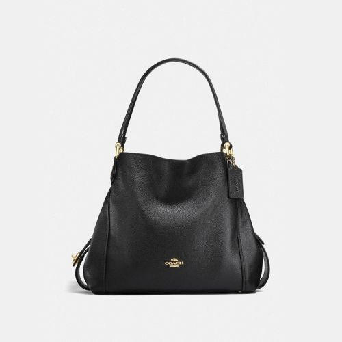 Coach Edie Soft Leather Shoulder Bag with Cross Body Strap