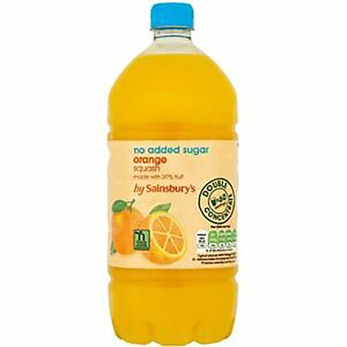 Sainsbury's Orange Squash, No Added Sugar 750ML