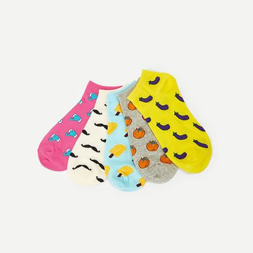 Shein Cartoon Ankle Socks 5Pair