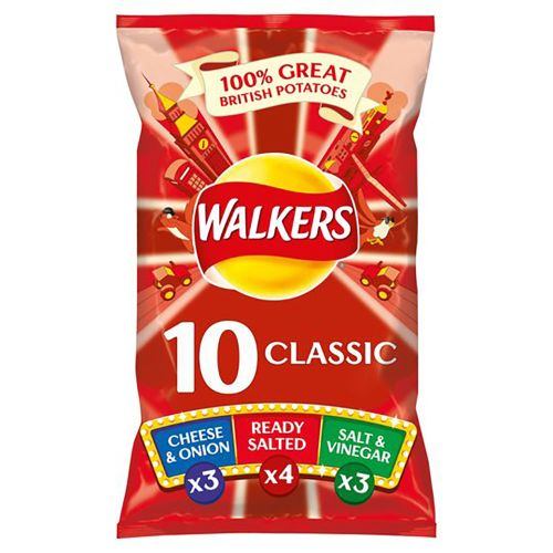 Walkers Classic Variety Crisps 10 X 25G